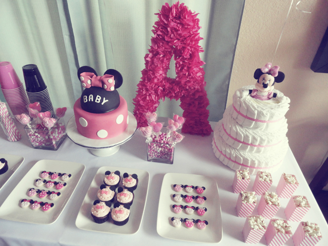 table layout minnie baby shower pinterest minnie mouse mice and