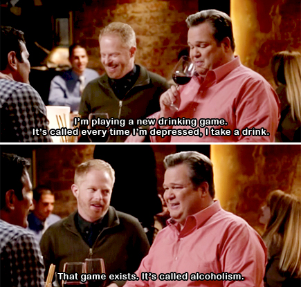modern family drinking game