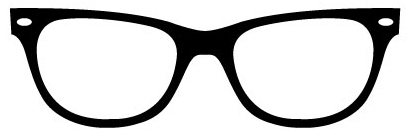 hipster nerd black rimmed glasses