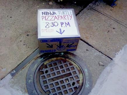ninja turtle pizza party
