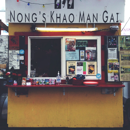 nong's khao man gai food cart portland