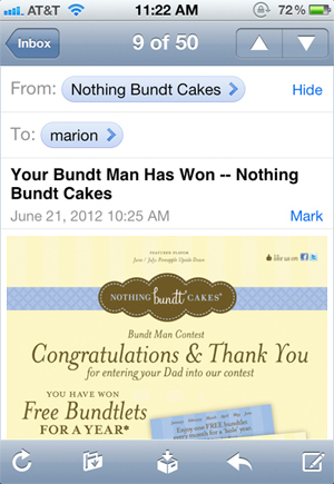 nothing bundt cakes contest