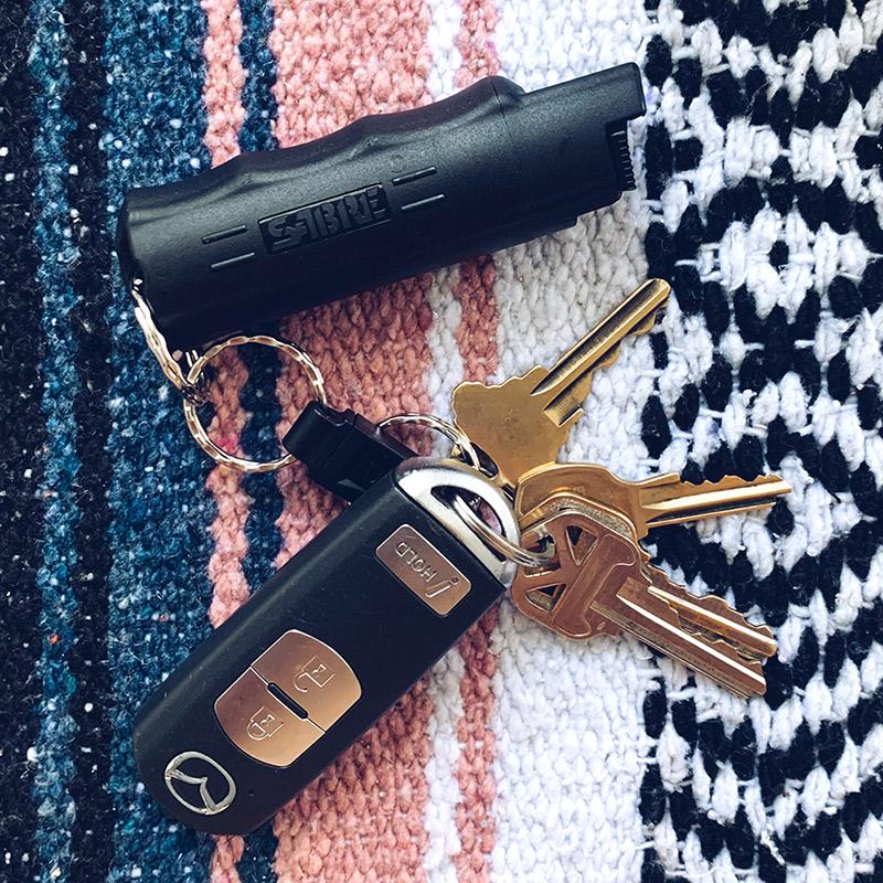 pepper spray keychain