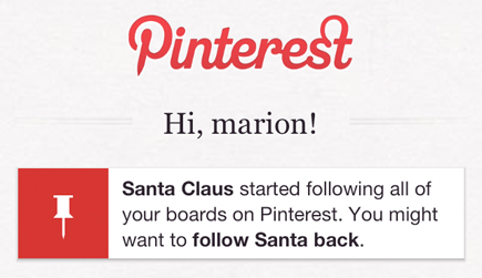 pinterest santa claus following