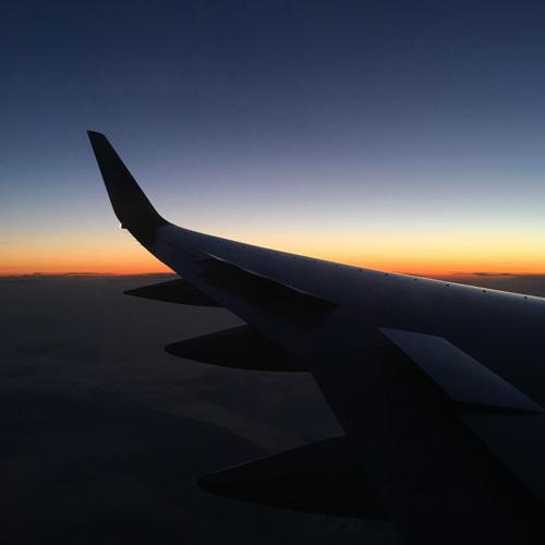 nyc plane sunrise