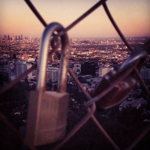 runyon canyon padlock fence dtla los angeles