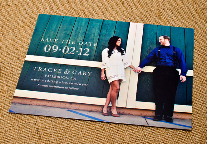 vintage wedding save the date tracee lorenzana gary wyer