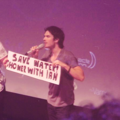 save water, shower with ian somerhalder