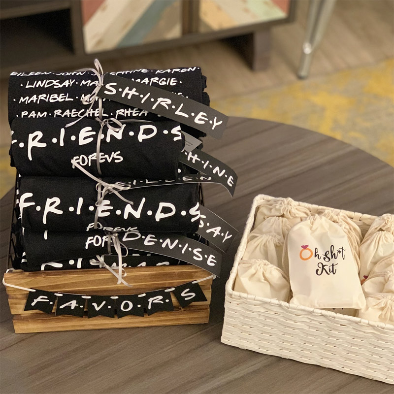 friends tv themed bachelorette bridal shower birthday party