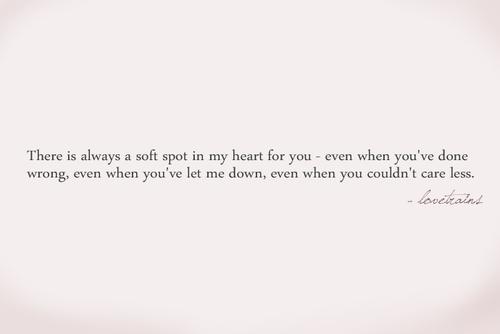 soft spot in my heart