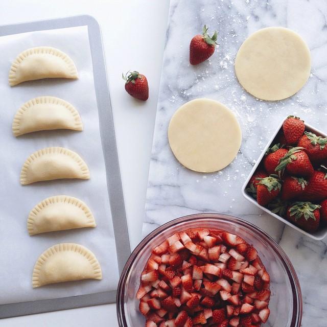 strawberry rhubarb empanadas