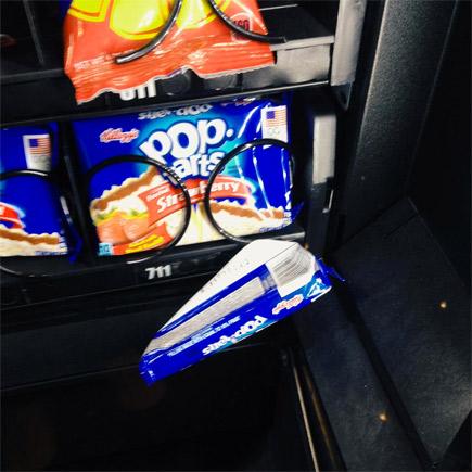 stuck in vending machine