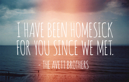 the avett brothers homesick