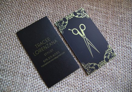 tracee lorenzana hair stylist business card