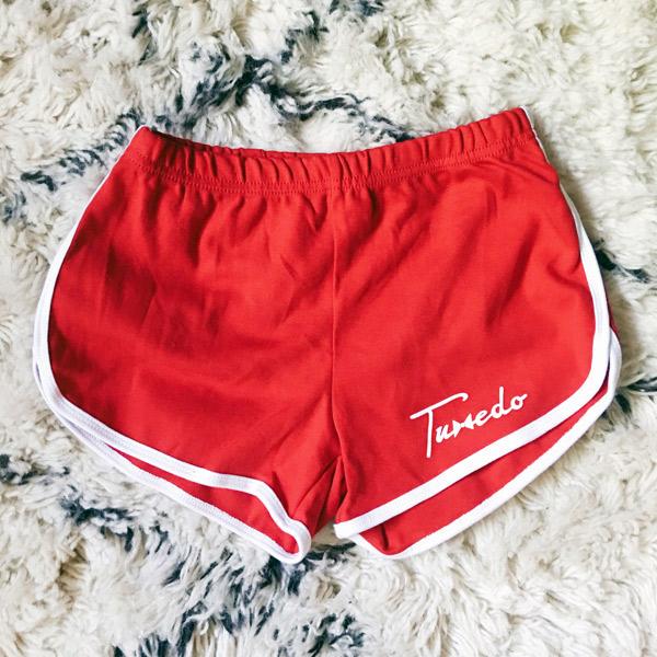 tuxedo shorts band merchandise