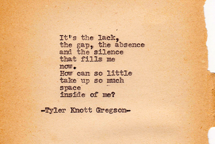 tyler knott typewriter series #181 absence