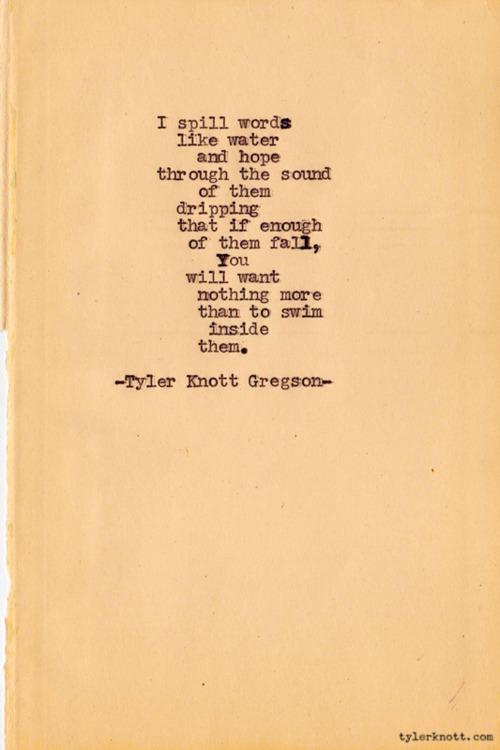 tyler knott typewriter series