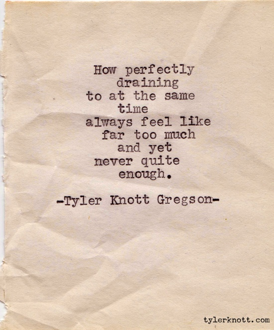 typewriterseries #42 - tyler knott gregson