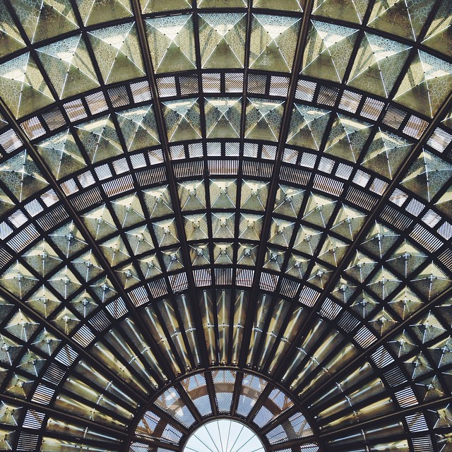 union station los angeles glass ceiling