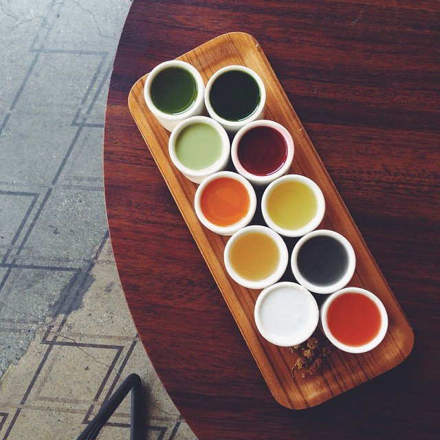 verve coffee roasters dtla juice flight