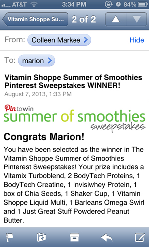 vitamin shoppe summer of smoothies sweepstakes