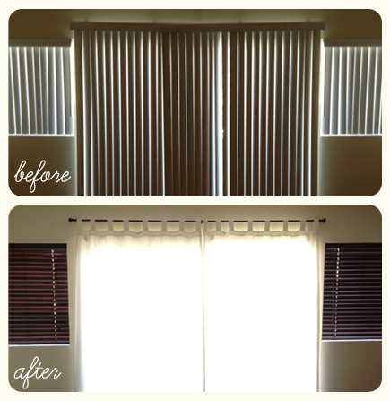 white vertical blinds rental remove diy home makeover