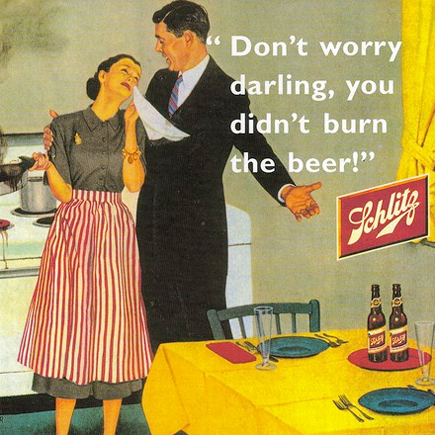 don't worry darling, you didn't burn the beer!