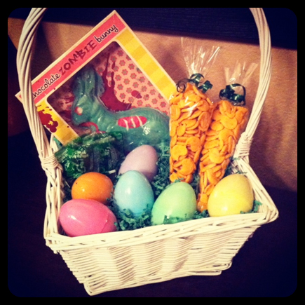 zombie easter basket